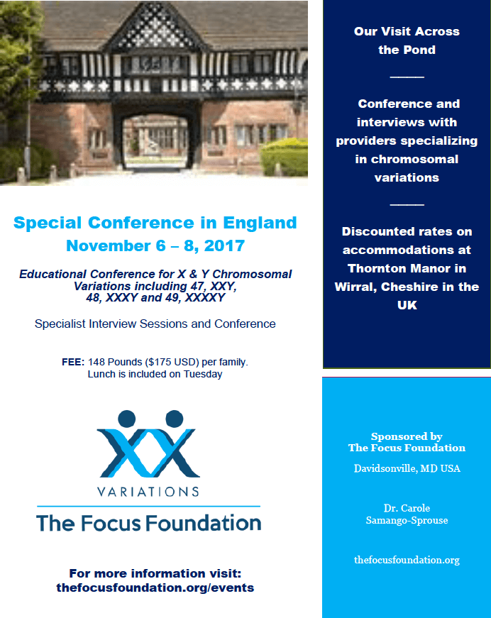XY Chromosomal Variation Conference - The Focus Foundation